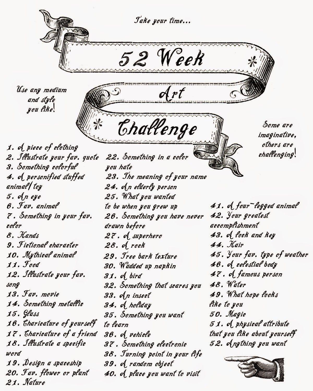 52 Week Art Challenge 15 Day Challenge In 2019