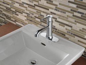 delta faucet trinsic single lever handle lavatory faucet eichler rh pinterest com