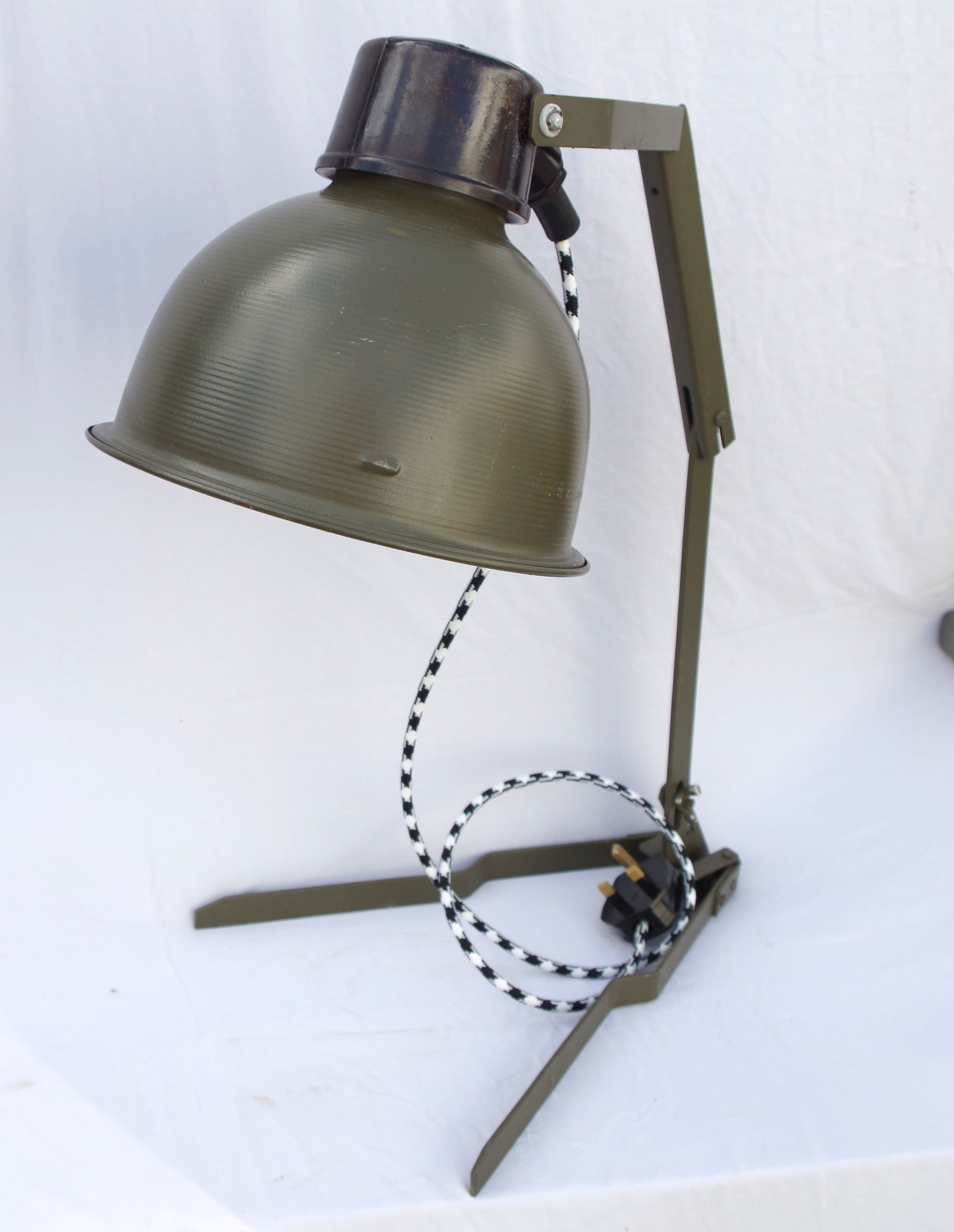 genuine rare vintage military desk lamp c1950s hobby room desk rh pinterest com