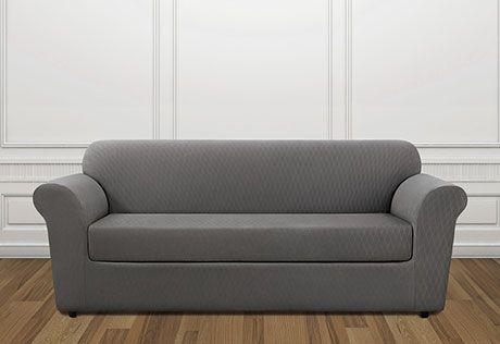 photo of stretch lattice separate seat slipcovers farmhouse rh pinterest com