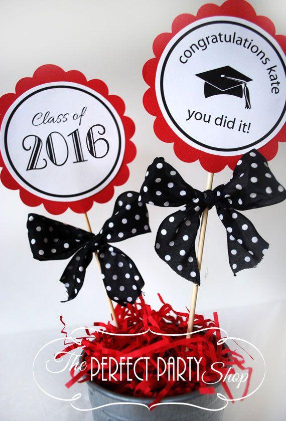 Graduation Centerpiece Stick/Graduation por ThePerfectPartyShop