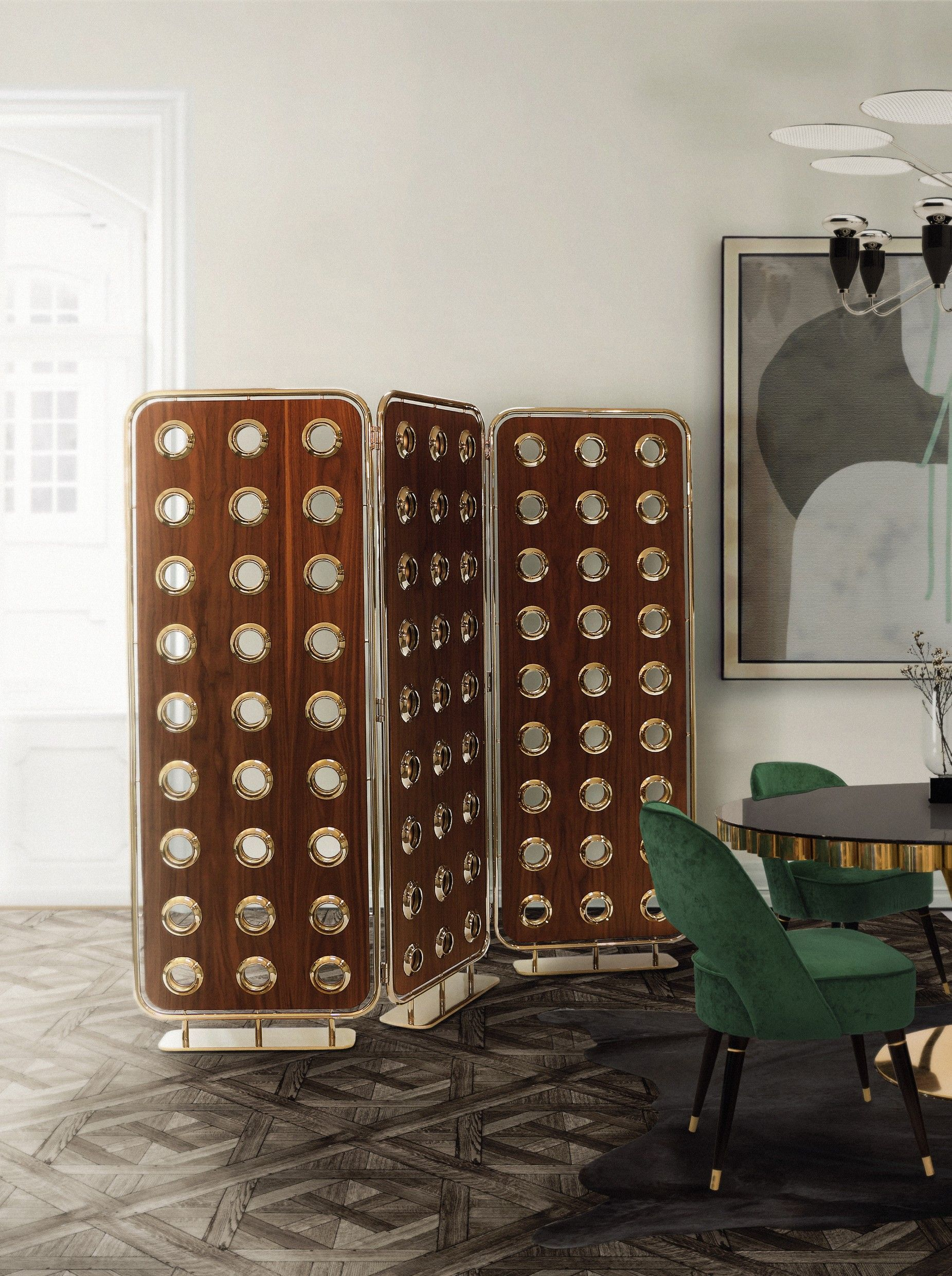 monocles screen is a refined 3 panel room divider produced in solid rh pinterest com