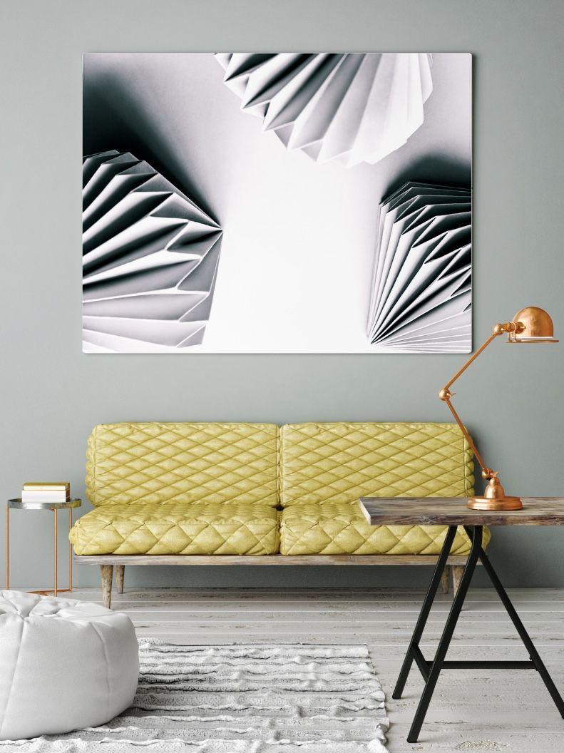 living room art prints%0A Origami Art Print