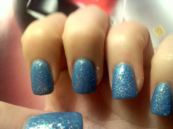 Light Blue Glitter... matched my Cinderella Halloween ...