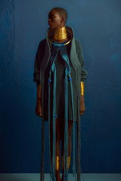 Clam Magazine #28 Muse: Mahany Pery Photography: Adriano Damas #blue #afrikanischerstil