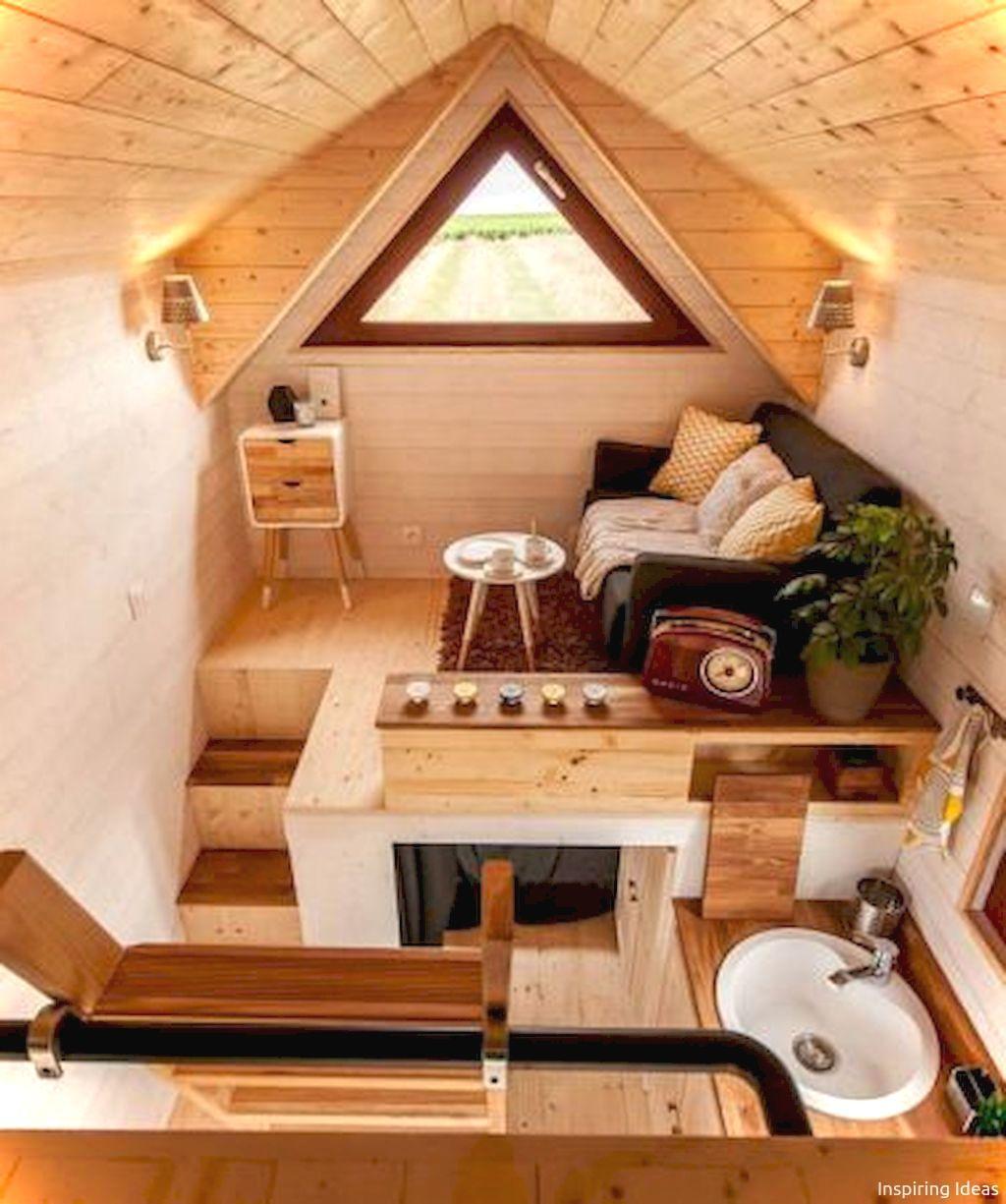 Nice 85 Awesome Tiny House Interior Ideas