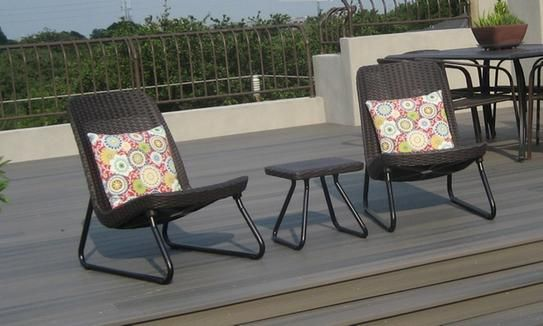 keter rio brown 3 piece all weather patio seating set patio ideas rh pinterest com