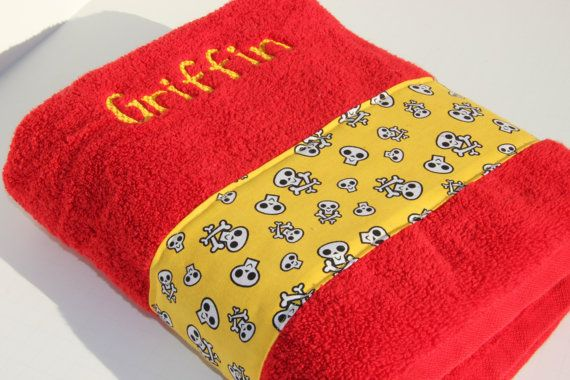 Custom Griffin Skull Towel READY TO SHIP by flyinshirer on Etsy, $25.00