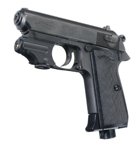 Umarex Walther PPK,  177 BB Blued with Laser by Umarex