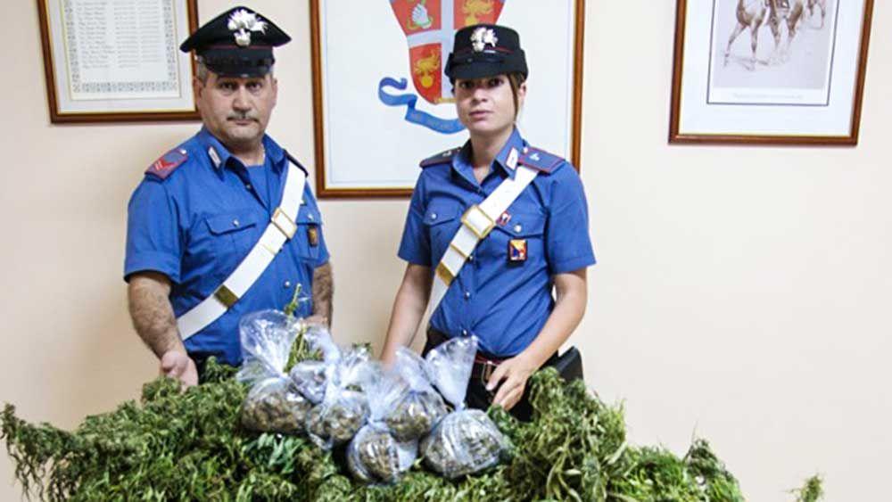 Due arresti a Messina per produzione e detenzione ai fini di spaccio di marijuana - http://www.canalesicilia.it/due-arresti-messina-produzione-detenzione-ai-fini-spaccio-marijuana/ Arresto, Carabinieri, Marijuana, Messina