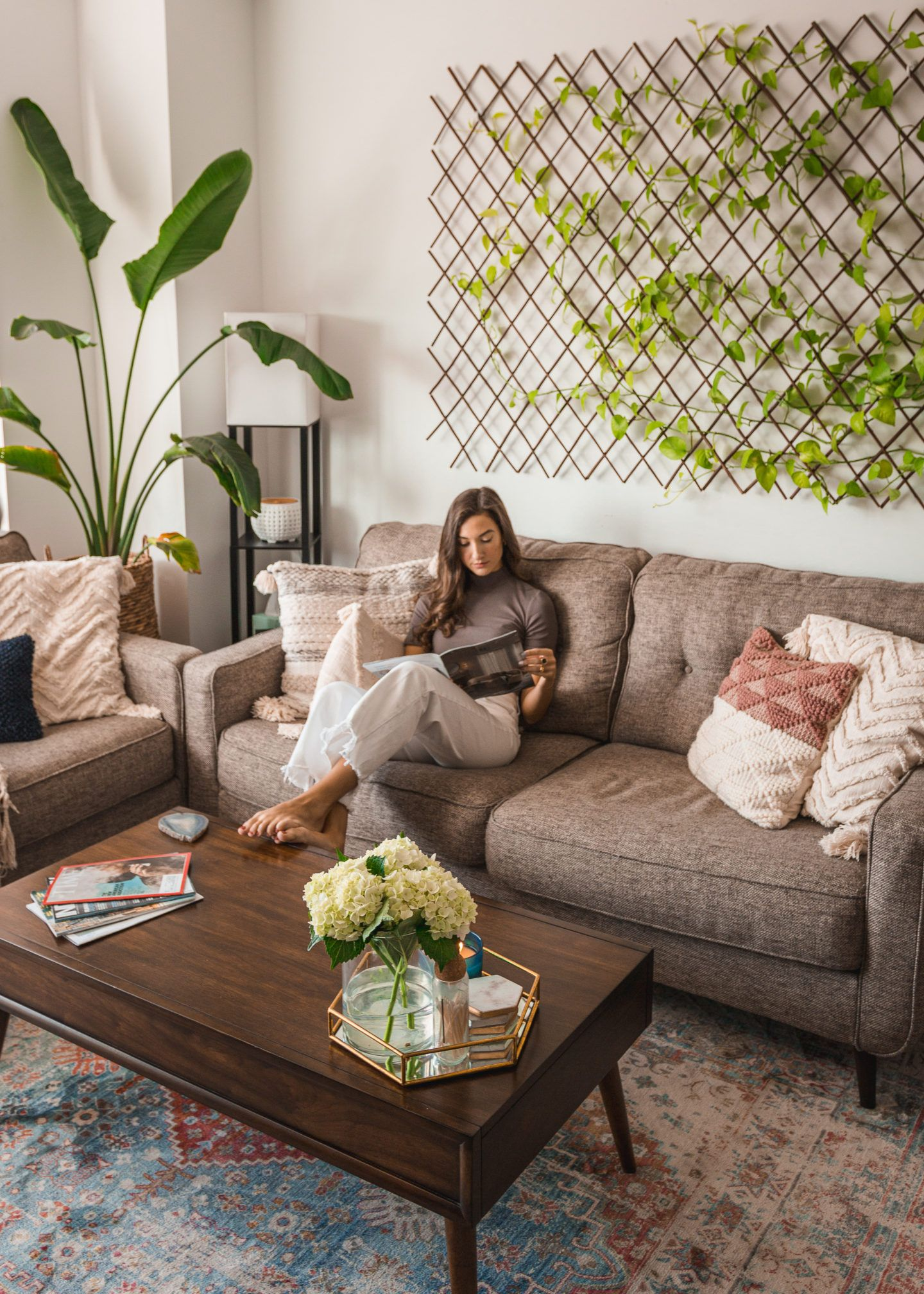 Brooklyn Apartment Tour | Furniture, Decor + House Plants - Melissa Frusco