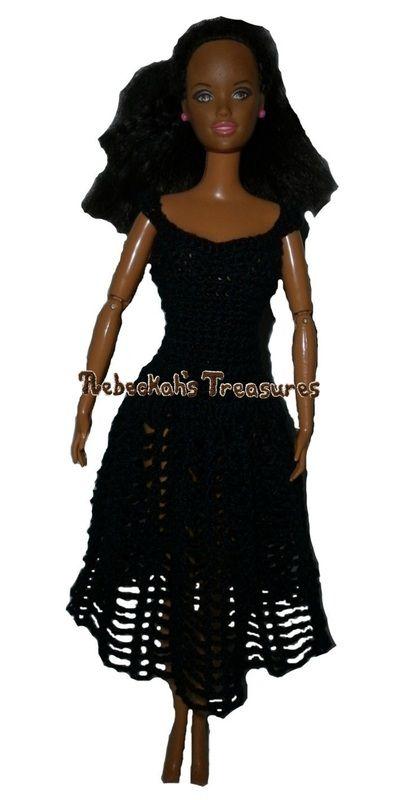 Crochet Barbie Dress Free Pattern Crochet Doll Clothes Pinterest