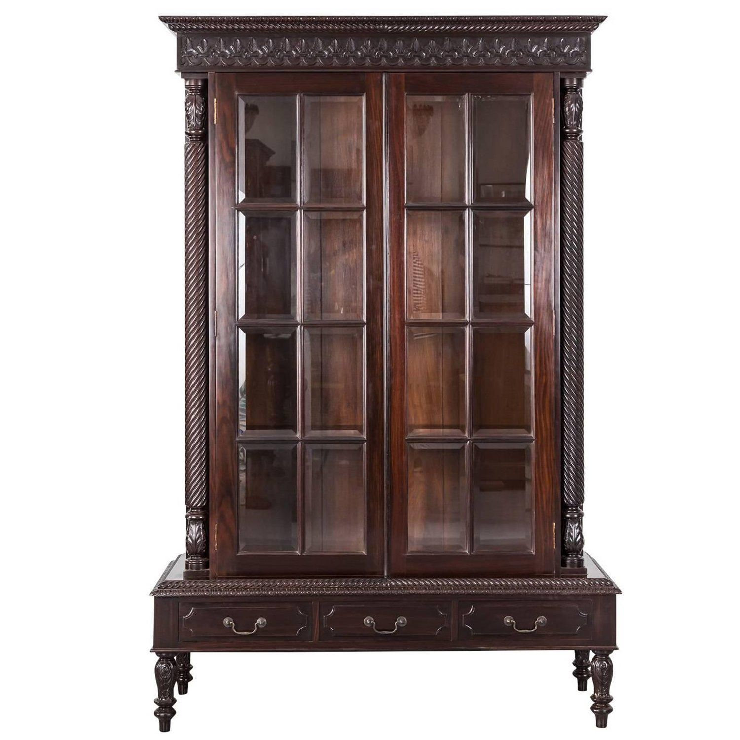 antique anglo indian or british colonial rosewood cabinet on stand rh pinterest com