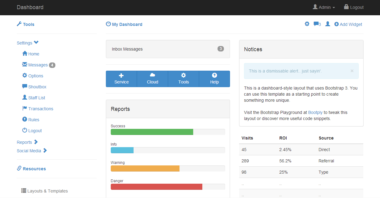 admin starter dashboard theme tree bootstrap template web front