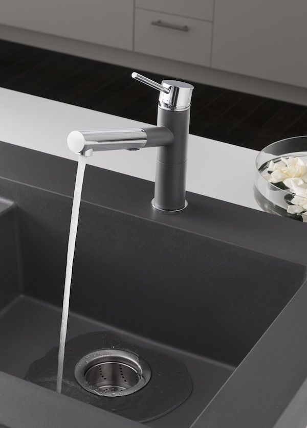 blanco s compact alta faucet in cinder to match the cinder sink in rh pinterest com