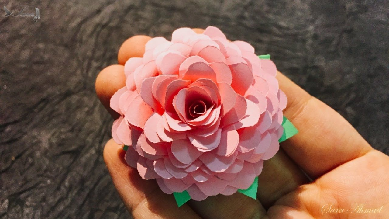 How To Make Paper Rose Flower Flowers Pinterest Rose Flower