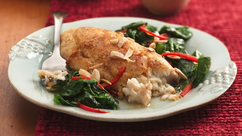 Brown butter fish florentine recipe cooking seafood