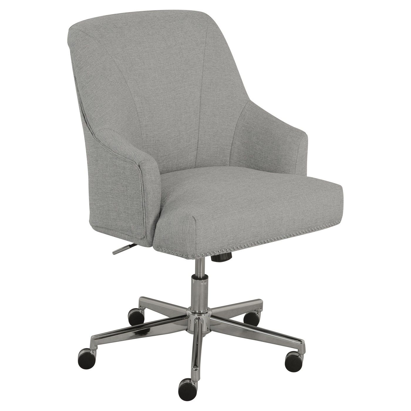 Leighton Home Office Chair Gray Serta image 1 of 4