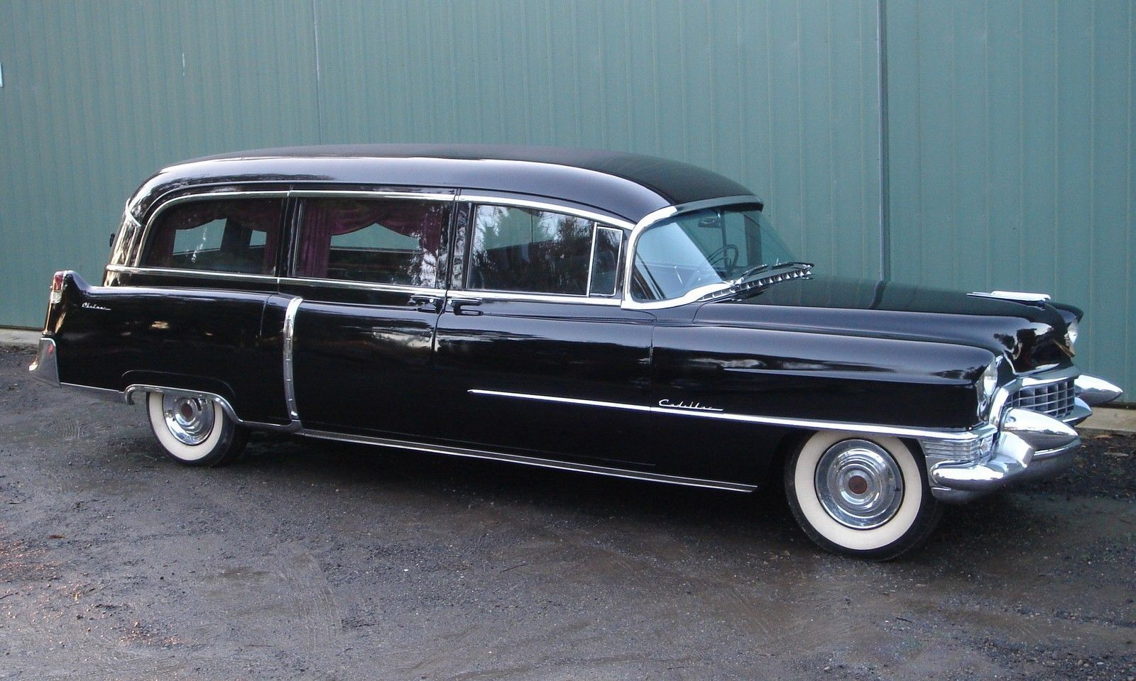 1955 cadillac meteor hearse miles from new very nice car in amazing shape