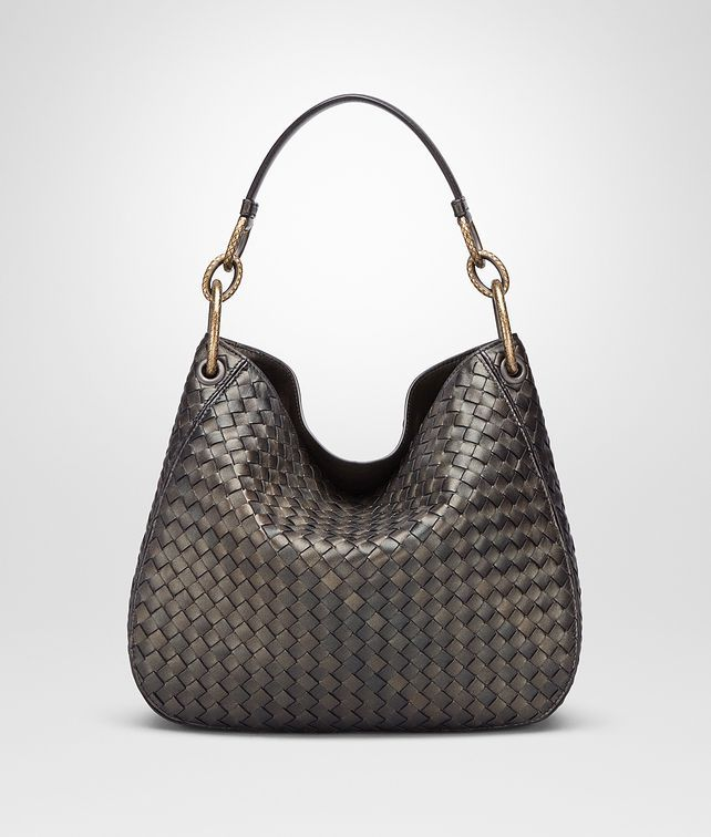 7ee9653a6d BOTTEGA VENETA DARK BRONZE INTRECCIATO NAPPA SMALL LOOP BAG Shoulder or  hobo bag D fp
