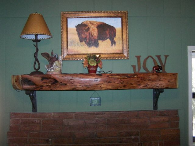 Mesquite Fireplace Mantel By Terry Lankford Custom Fireplace