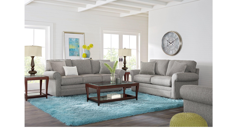 Cindy Crawford Home Bellingham Gray 7 Pc Living Room Living Room Sets Gray Living Room Sets Furniture Living Room Turquoise Affordable Living Room Set