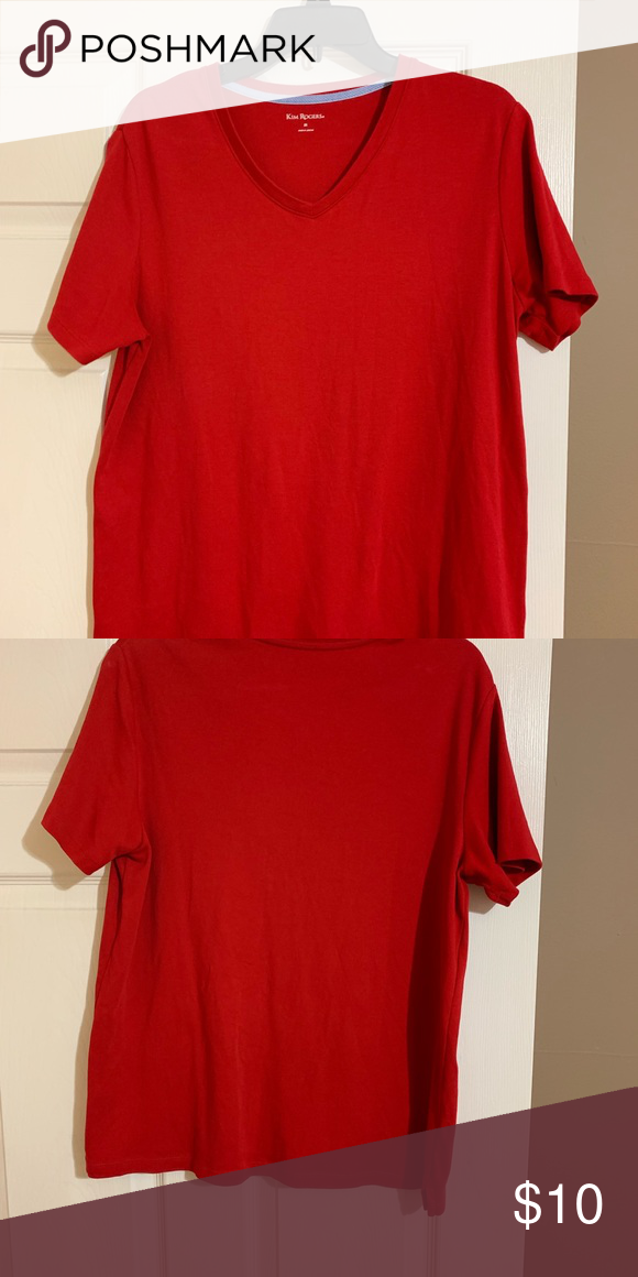 1ba350801a7a18 Kim Rogers plain red tee Kim Rogers red short sleeve tee Kim Rogers Tops  Tees - Short Sleeve