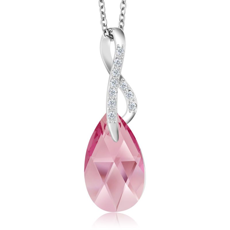 d57ee5566 Pink Ribbon Breast Cancer Awareness Pendant Created with Swarovski® Crystals  #ad