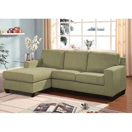 Fine Acme Vogue Microfiber Reversible Chaise Sectional Sofa Bralicious Painted Fabric Chair Ideas Braliciousco