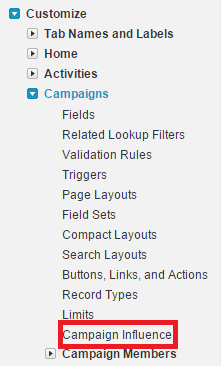 Campaign Influence In Salesforce Influence Salesforce Campaign