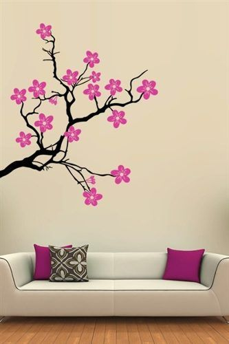 vinilos decorativos arboles y flores manualidades Pinterest