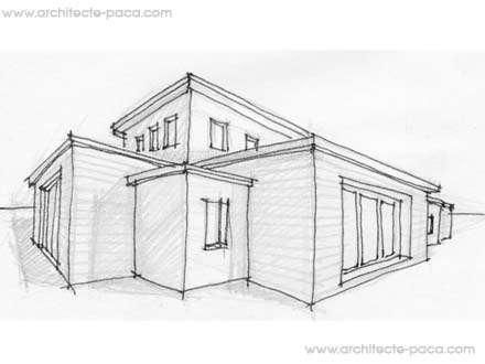 Plan de maison bas sur architecture bois contemporaine et structurellement simple r aliser - Plan de maison facile ...