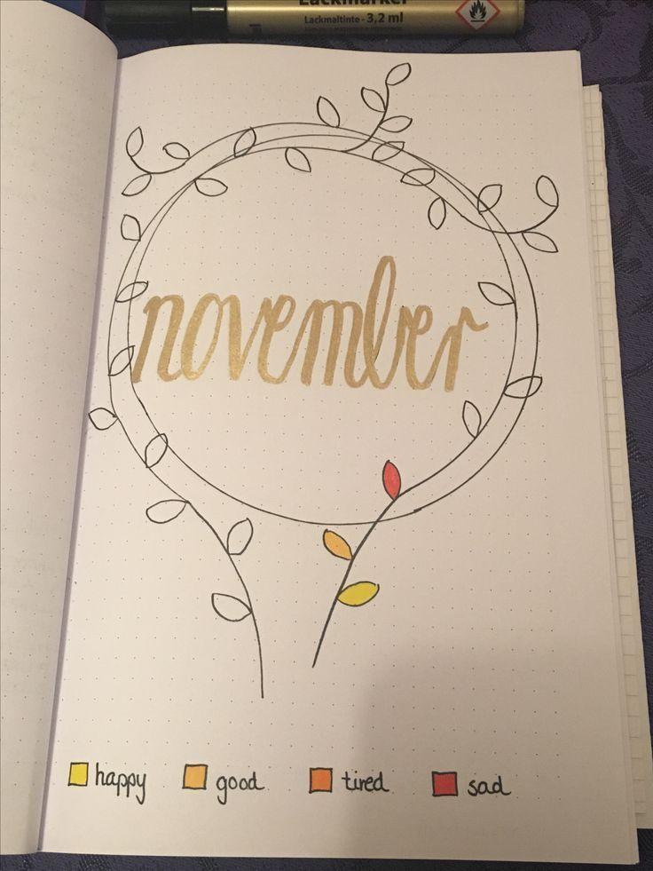 Bullet journal - Mein bujo november cover mit moodtracker #novemberbulletjournalcover Bullet journal - Mein bujo november cover mit moodtracker #novemberbulletjournalcover