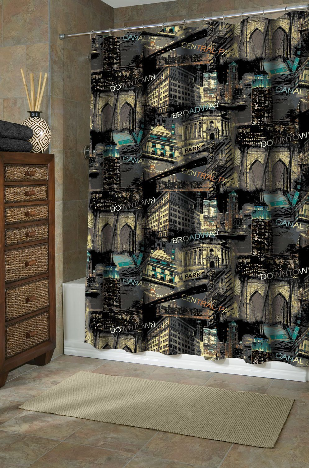 Big City Shower Curtain