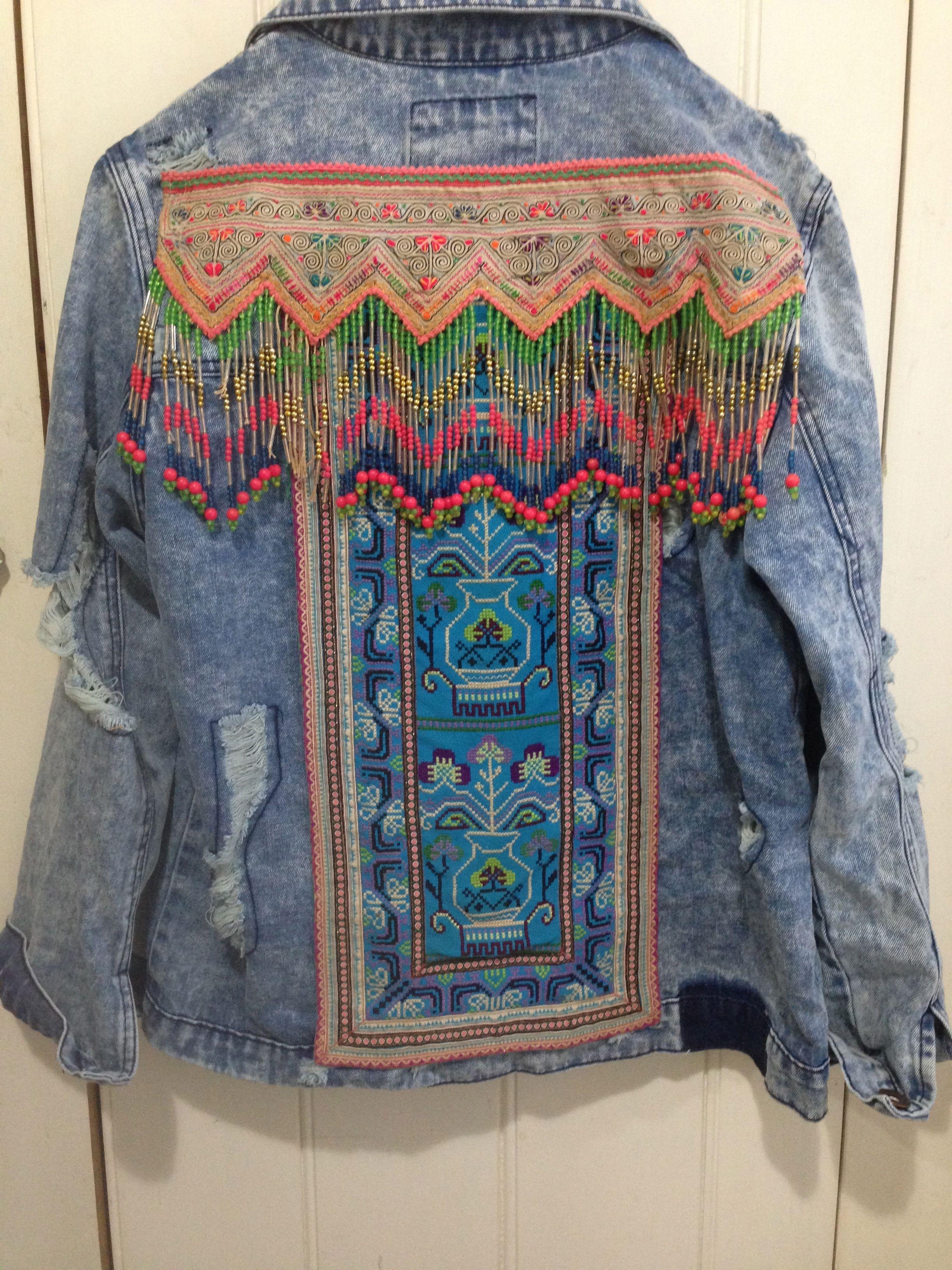 Gr Custom Denim Jacket Embellished Denim Jacket Denim Jacket Boho Denim [ 3264 x 2448 Pixel ]
