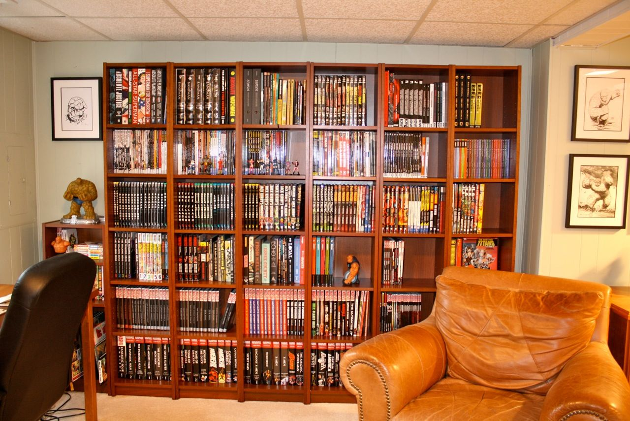 Comic Book Shelving Beautifully Organized Comics Collection  Man Cave Ideas