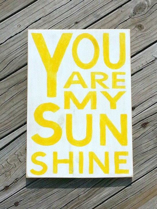 You Are My Sunshine Wooden Sign - Hand Painted Wood Wall Decor ...