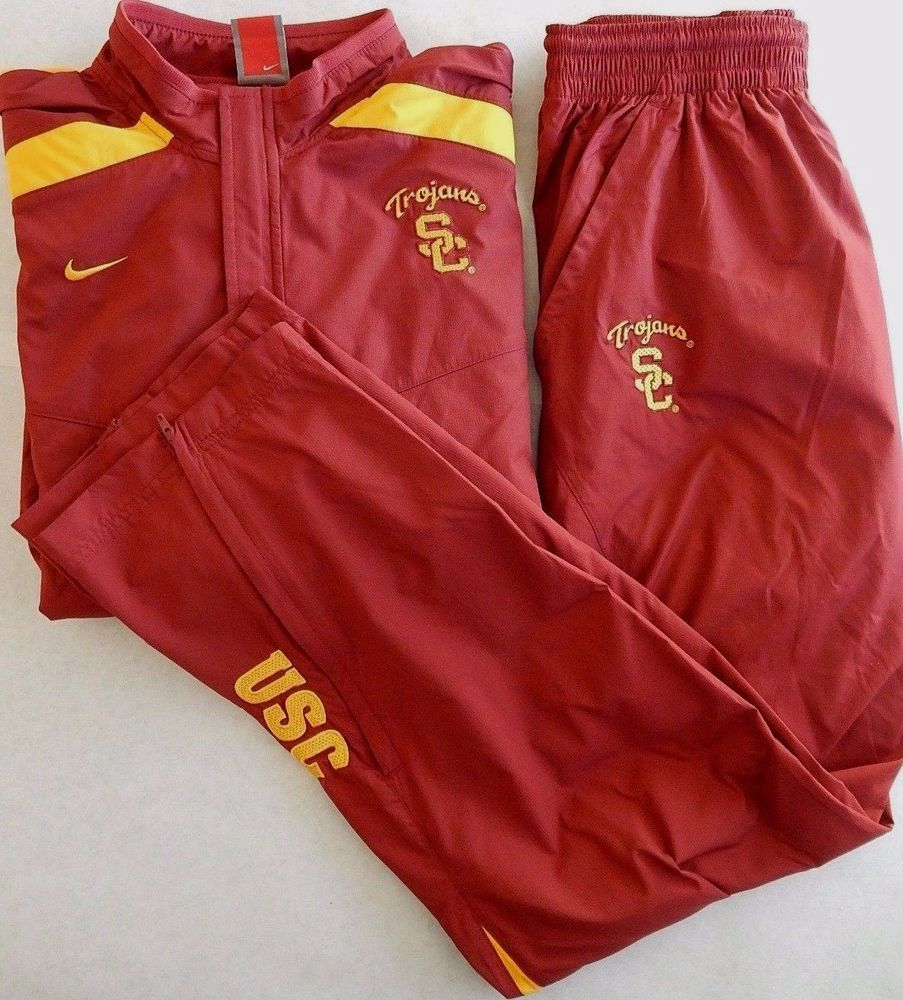 Small Usc Trojans Nike Fit Storm Tracksuit Warmup Jacket Pants College Football Warmup Jacket Usc Trojans Usc Athletics