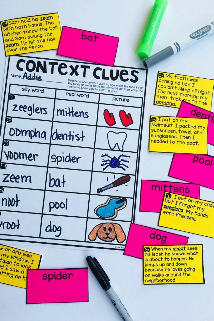 Context Clues L 1 4 A Hands On Reading Classroom