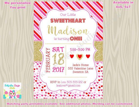 Valentine birthday invitation invite 1st birthday valentines day valentine birthday invitation invite 1st birthday filmwisefo