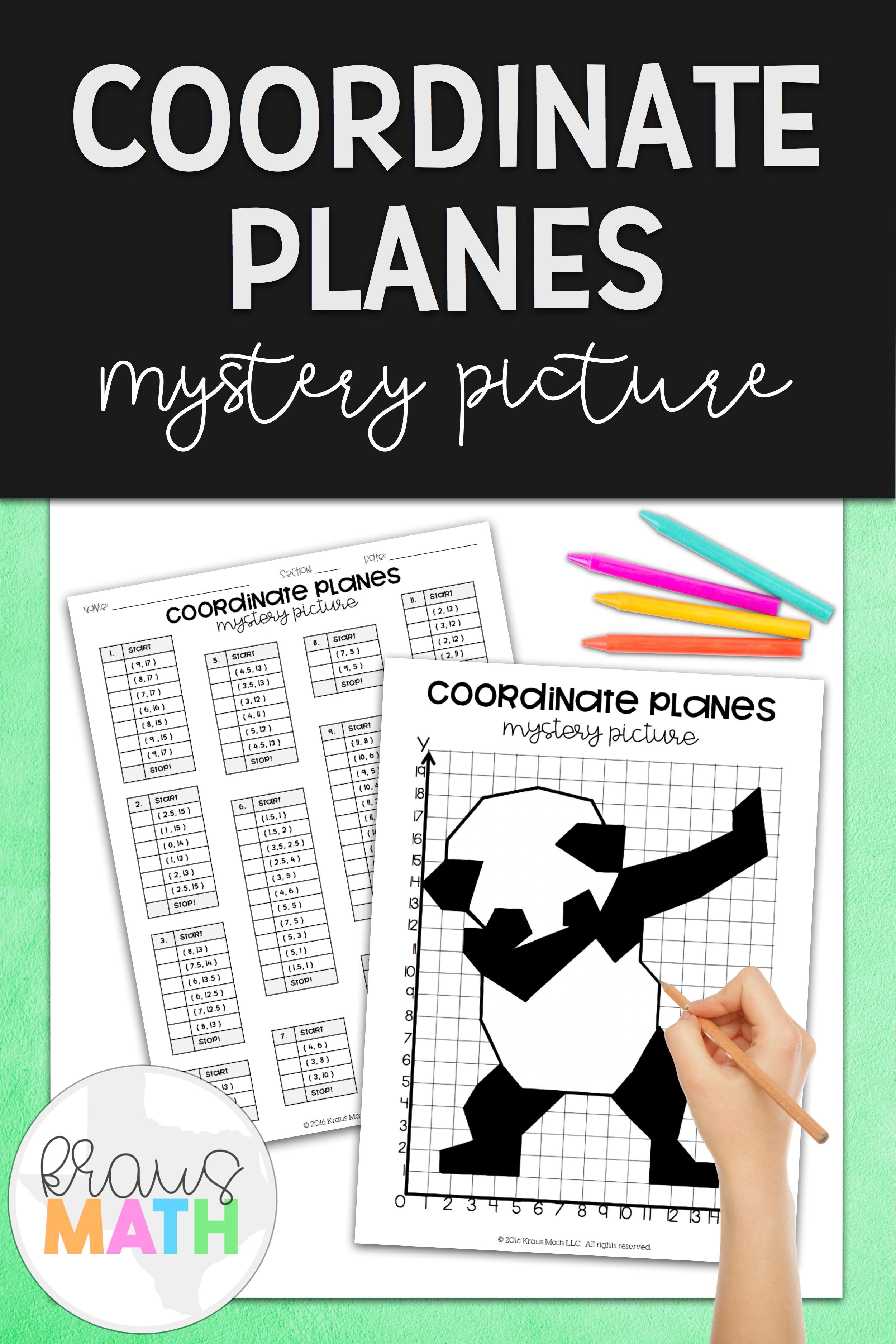 Panda Dab Coordinate Planes Activity 1st Quadrant With
