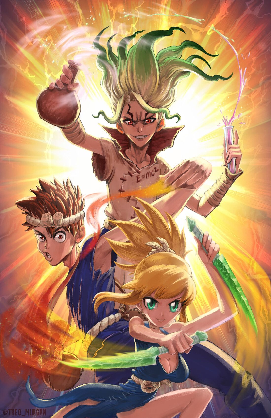 Dr. STONE is a serialized manga and anime series created