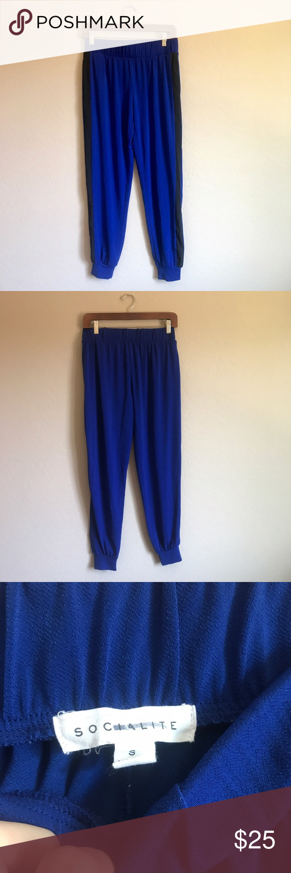Socialite Royal Blue Jogger pants Great condition ✨ two side pockets, Size small. Measurements in inches: 13 waist, 9 rise, 37 length, 28 inseam, 4 leg opening ✨ Socialite Pants Track Pants & Joggers