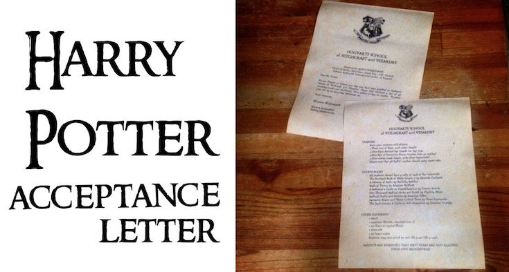 harry potter hogwarts acceptance letter easy diy tutorial with template easy tutorial with everything you need to easily make ad personalize your own