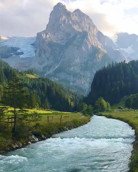 Amazing view of Berner, Oberland. Switzerland.