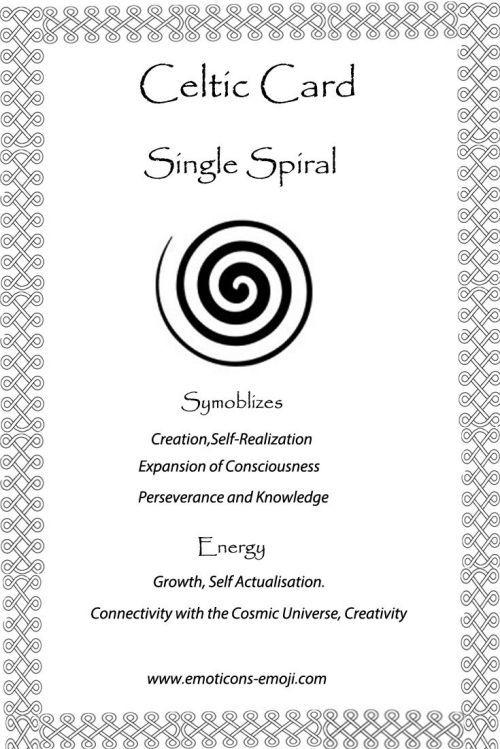 Single Spiral Celtic Card   Celtic   Celtic symbols