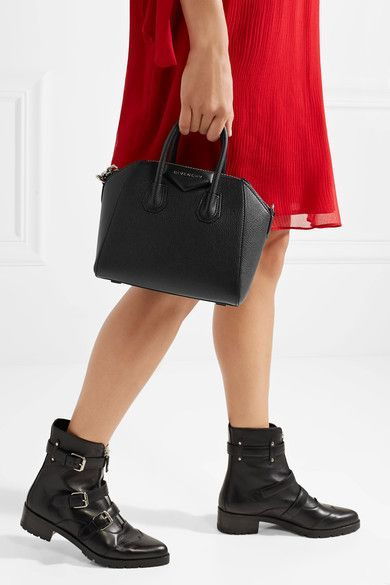 522dda5d44 Givenchy - Antigona Mini Textured-leather Shoulder Bag - Black ...
