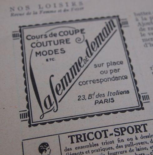 Old paris newspaper ads.