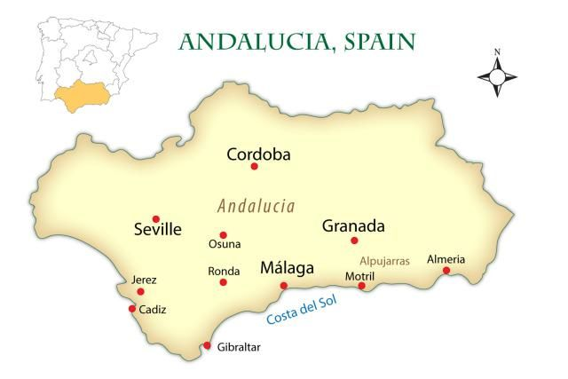 Map Of Spain Andalucia.Exploring The Andalusia Region Of Spain Andalusia Ronda Spain