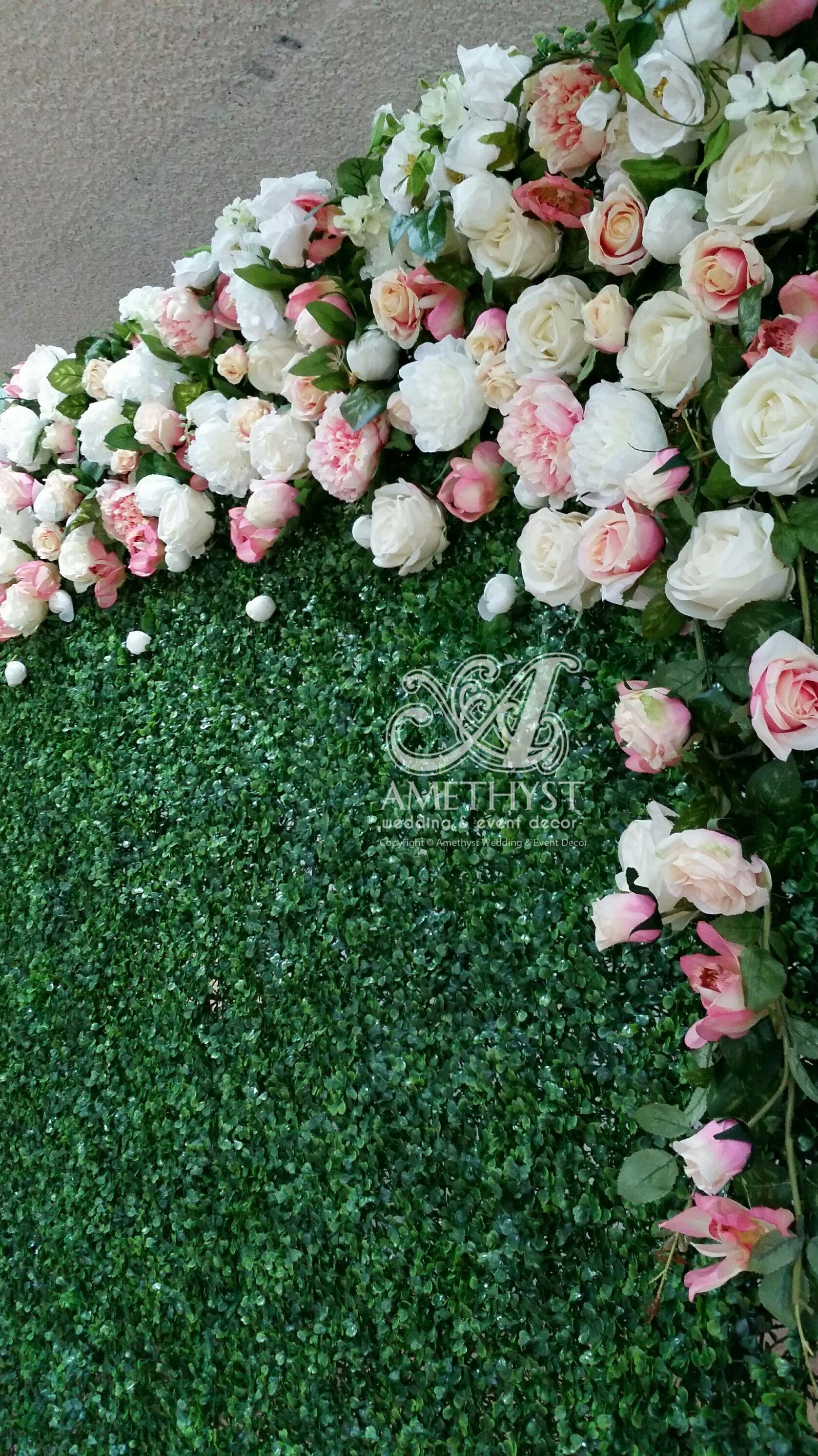 Flower Wall Pink White Flower Wall Flower Walls Pinterest Flower Wall